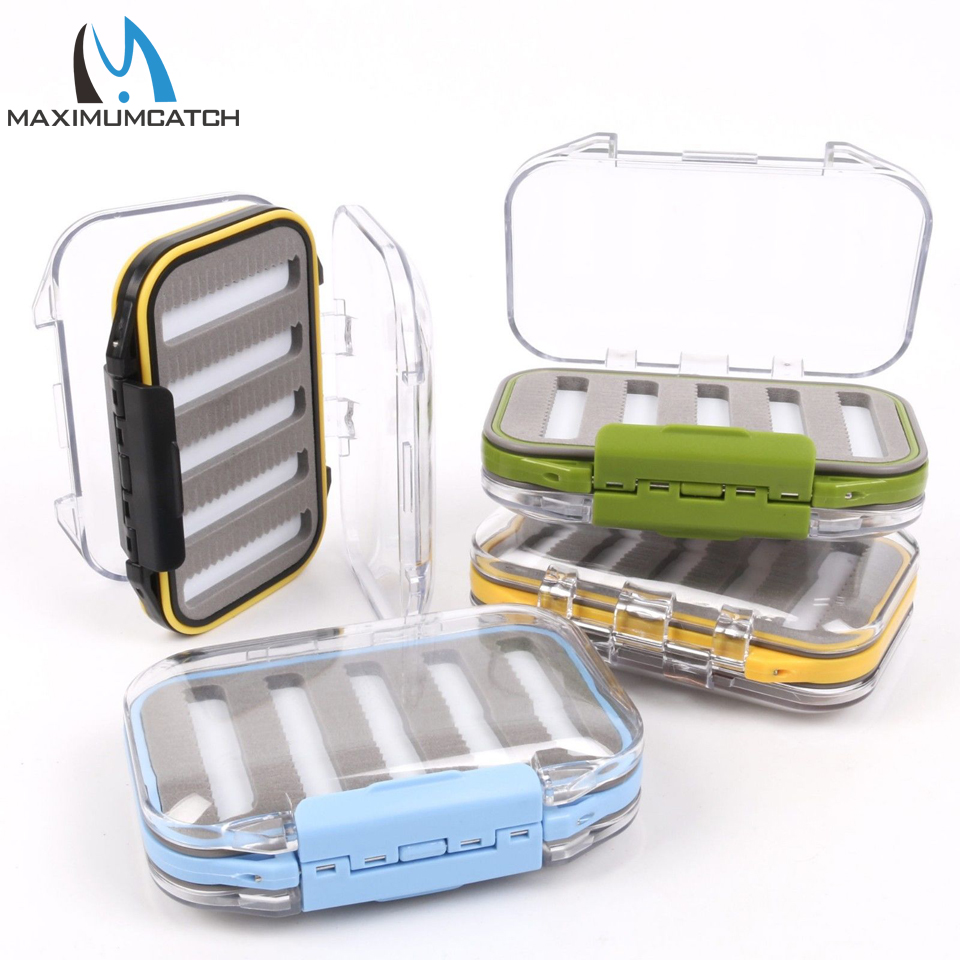 Maximumcatch Waterproof Fly Fishing Box With Slit Foam Fishing Lure Hook Bait Fly Box Fishing Tackle Box коробка для мушек snowbee slit foam compartment waterproof fly box x large