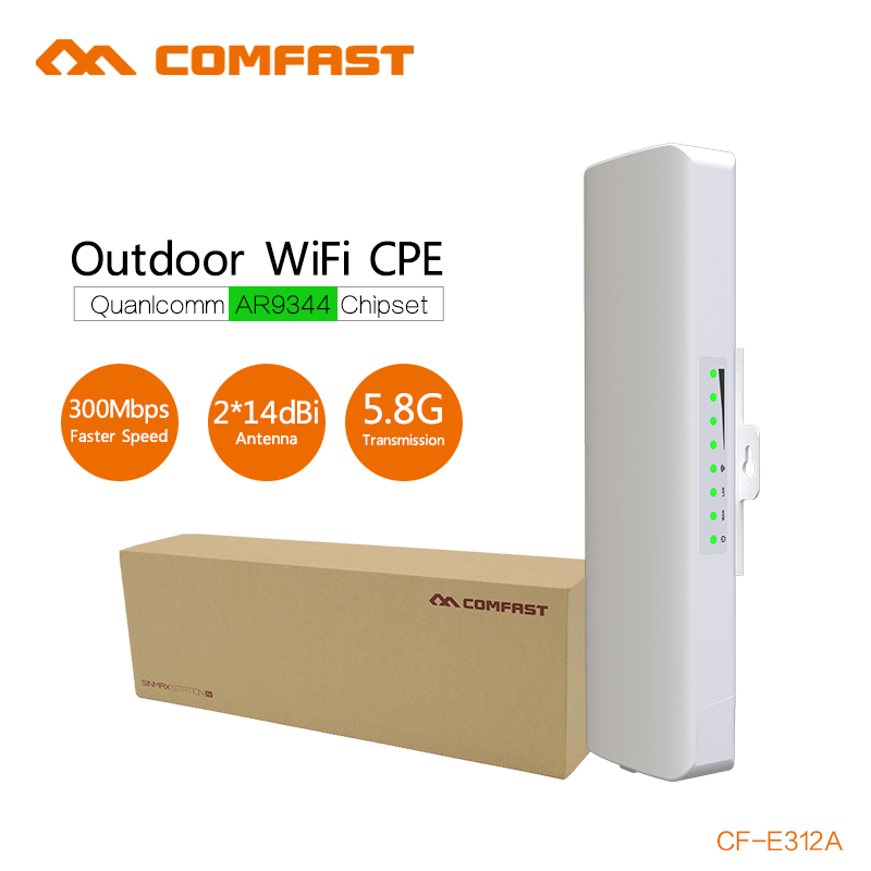 ФОТО 4PCS COMFAST Wireless Outdoor CPE 23dBm 2K Distance wi-fi transmission and receiver 5G 300Mbps Wireless Access Point WIFI Bridge