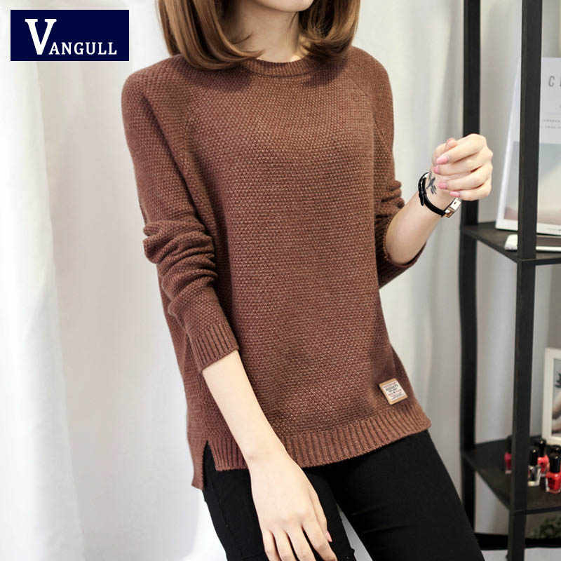 Herbst pullover 2019 Winter frauen mode sexy o-ansatz Beiläufige frauen pullover und pullover warme langarm Gestrickte Pullover
