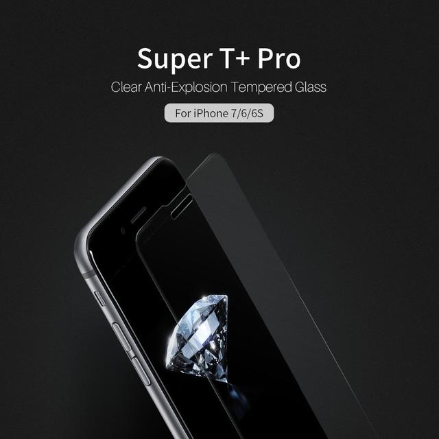 Nillkin súper t + pro claro anti-explosión de cristal templado para apple iphone 7 delantero protector protector de la película para el iphone 7