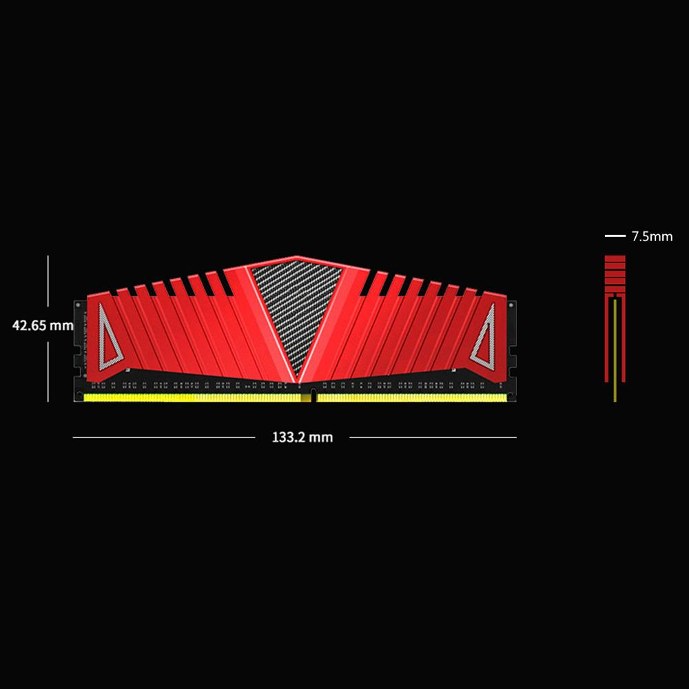 Image 5 - 1Set RAM Red Heatsink Radiator Cooler Cooling Heat Sink 40x126mm for Desktop Memory DDR2 DDR3 DDR4 Heat Dissipation Pad-in Fans & Cooling from Computer & Office