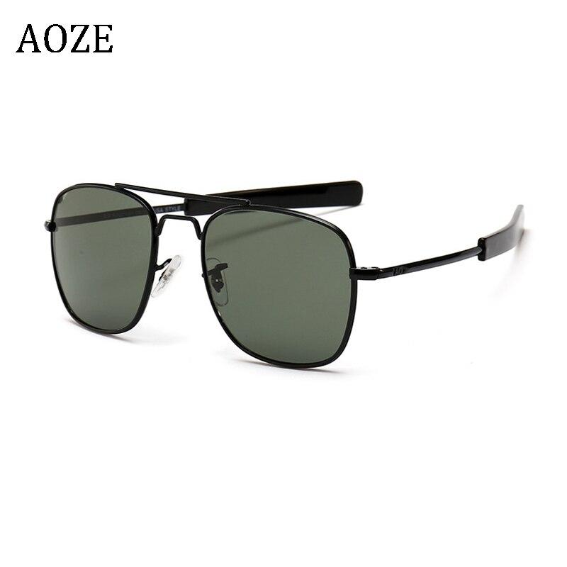 Fashion Sunglasses Men American Army Military Brand Designer AO Celebrity Stars