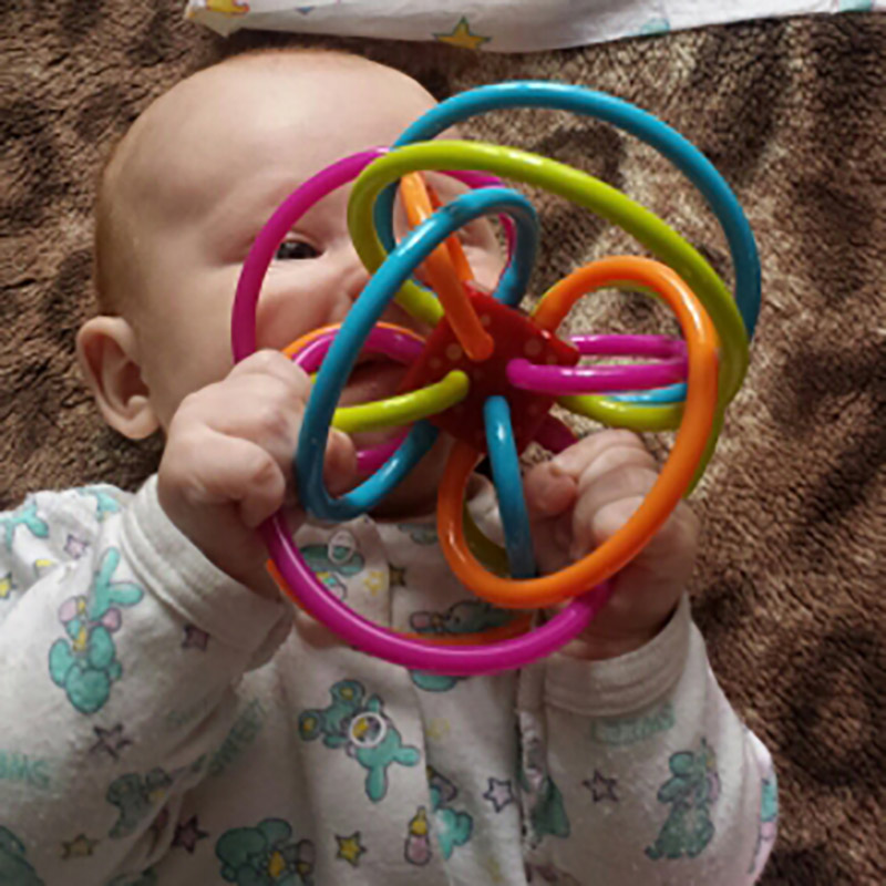 Develop Intelligence Fun Baby Rattles Ball Plastic Grasping Mobiles Baby Toy Hand Bell Baby Teether Toy  — BYC067 PT49