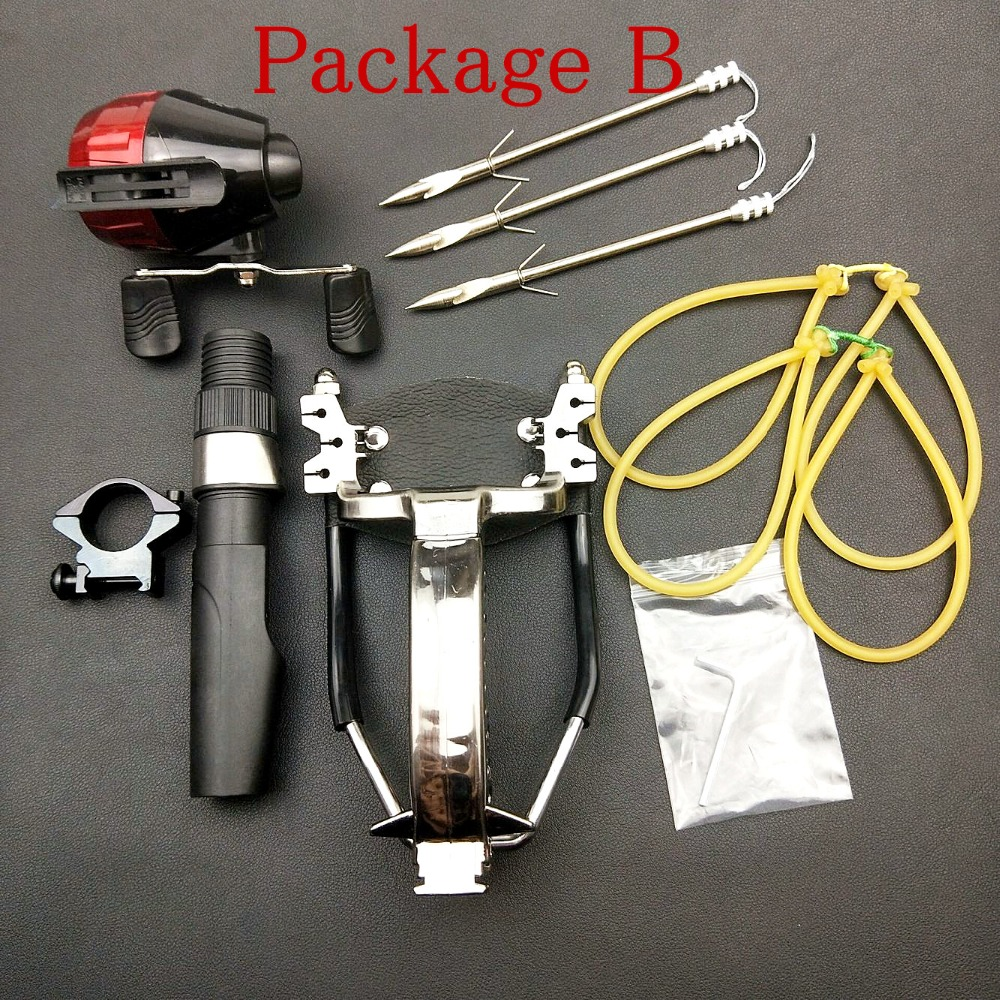 Poderosa multi-função tiro com arco e flecha tiro com arco de pesca slingshot catapulta caça pesca sling tiro seta kit