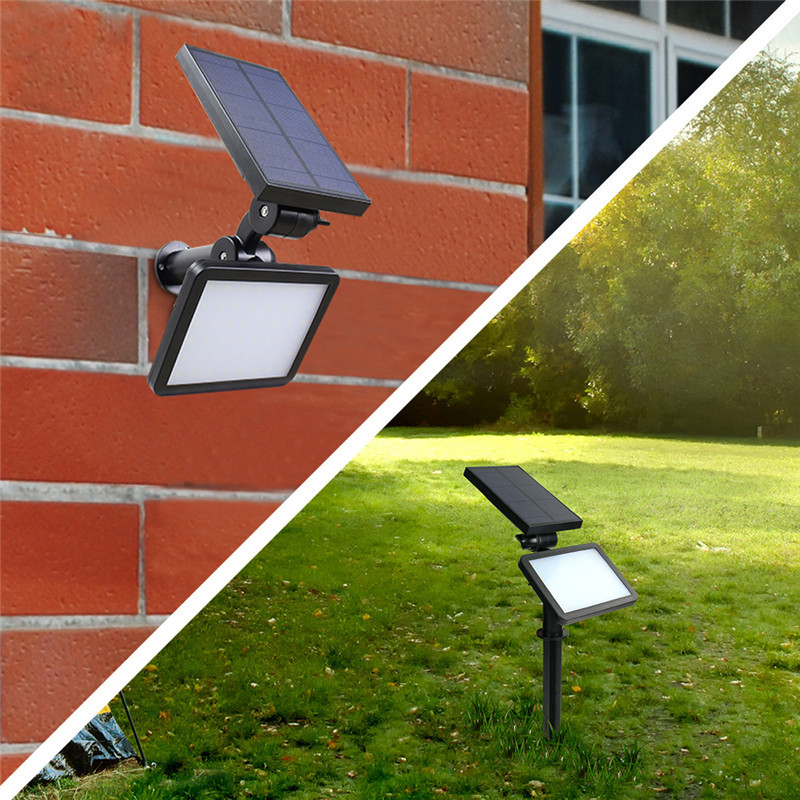 48 LEDs Waterproof Solar Powered Security Lights 2 In 1 Outdoor Lighting  Solar Wall