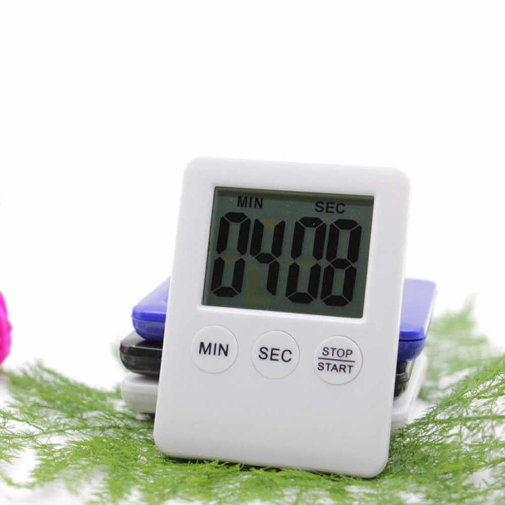 Vida cómoda 1 pc temporizador Digital LCD grande de cocina cuenta atrás reloj 99 minuto alarma venta al por mayor envío gratis #35