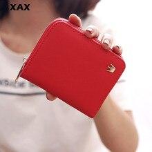 XAX Women wallet Leather Luxury Brand Famous Crown Women Wallets Purses Female Short Coin Zipper Purse Credit Card Holder 331