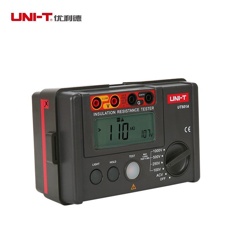 UNI-T 1000V Insulation Resistance Tester Megger Earth Ground Resistance Voltage Meter Alarm Buzzer Megohmmeter Voltmeter UT501A uni t ut501a 1000v megger insulation earth ground resistance meter tester megohmmeter voltmeter w lcd backlight