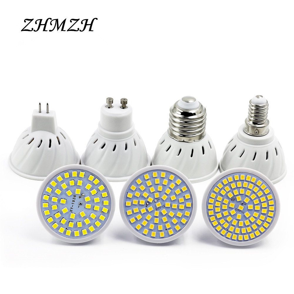 220V LED Lamp Cup E27 E14 MR16 GU10 Bulb Light Lampada LED Spotlight 48 LEDs 2835 Chip SMD Bombillas LED Lighting Corn Bulbs new e27 gu10 rgb led bulb light bombillas 4w 16 color change mr16 e14 led lamp spotlight lampada with remote controller dimmable