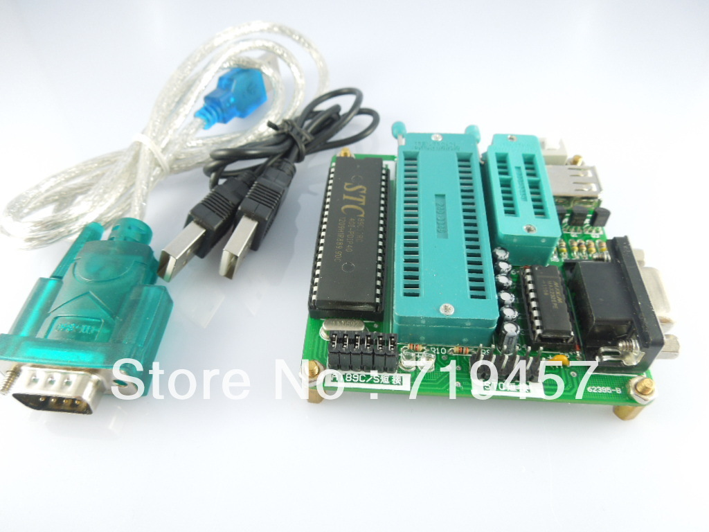 FREE SHIPPING Usb Mouth 51 Microcontroller Programmer Ep51 Burner At89 Stc Series Of Dual-use
