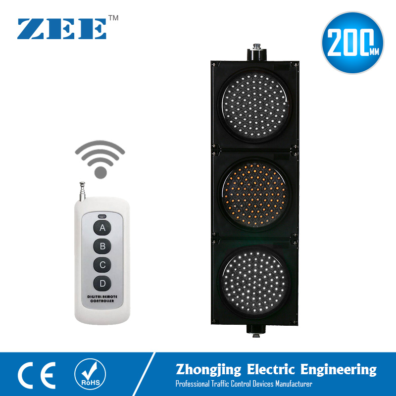 Купить с кэшбэком Remote Controlled 200mm LED Traffic Signal Light Wireless Controller LED Traffic Signs 220V 12V 24V