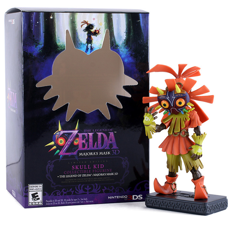 The Legend of Zelda Action Figure 16cm Link 3D Skull Kid Majoras Mask PVC Figures Toys Collectible Model Toy With Box acgn lol game the void reaver toy figures classic collection khazix model with the original box action figure 18 cm wl0014