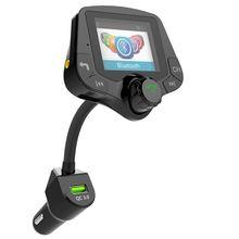G24 hd tela colorida sem fio carro kit bluetooth mp3 player mãos livres chamando fm transmissor carro kit suporte qc 3.0 carregador rápido