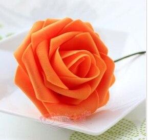 500 шт. X(6 см) один Пена розовыми цветами стволовых в 12 различных Цвета для выбора свадебные цветы.* по EMS - Цвет: orange