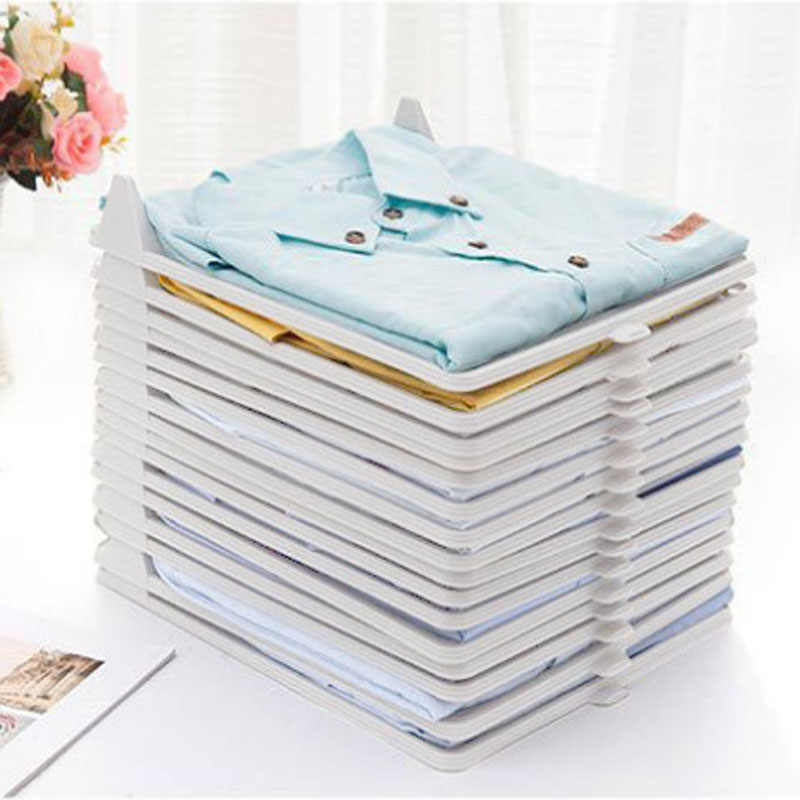 1Pcs Creative Fast Closet Organizer Clothes Fold Board Clothing Organization Shirt Folder Travel Backpack T-shirt Document Home