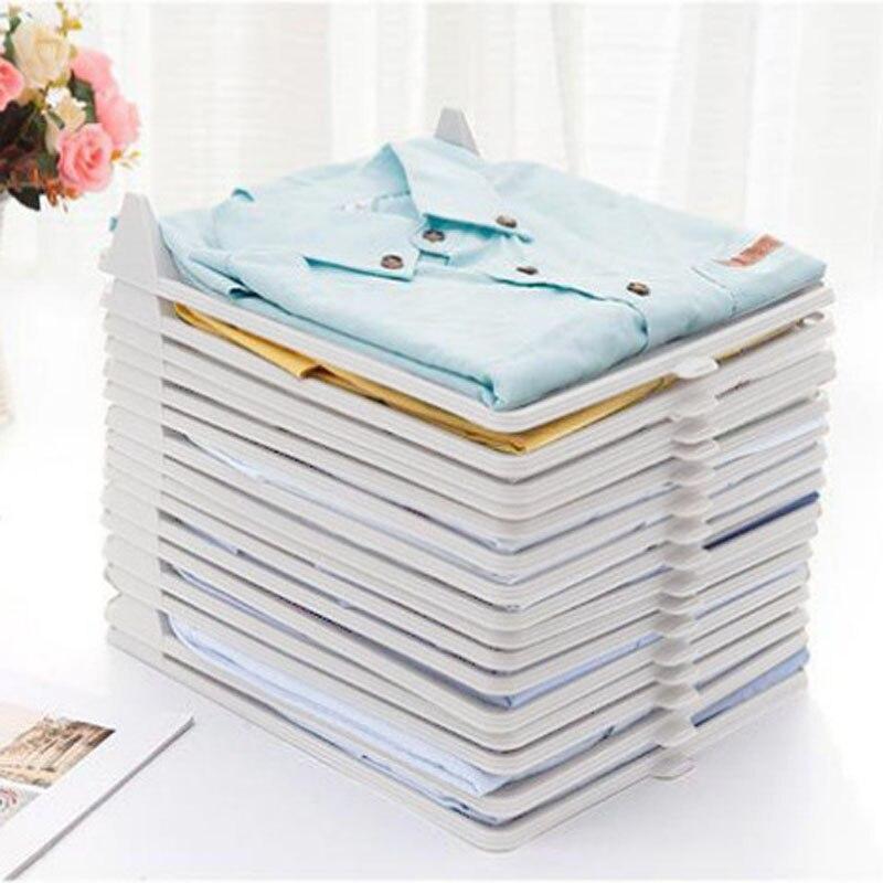 1Pcs Creative Fast Closet Organizer Clothes Fold Board Clothing Organization Shirt Folder Travel Backpack T-shirt Document Home