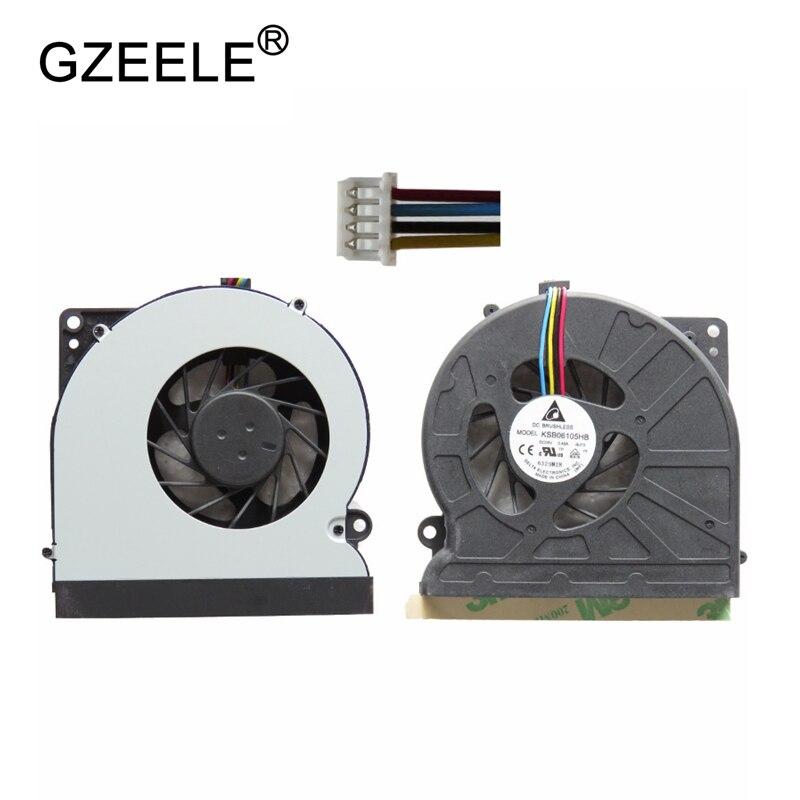 GZEELE nouvel Ordinateur Portable cpu ventilateur de refroidissement pour ASUS N61 N61V N61JV N61JQ N61VG CPU VENTILATEUR De Refroidissement KSB06105HB