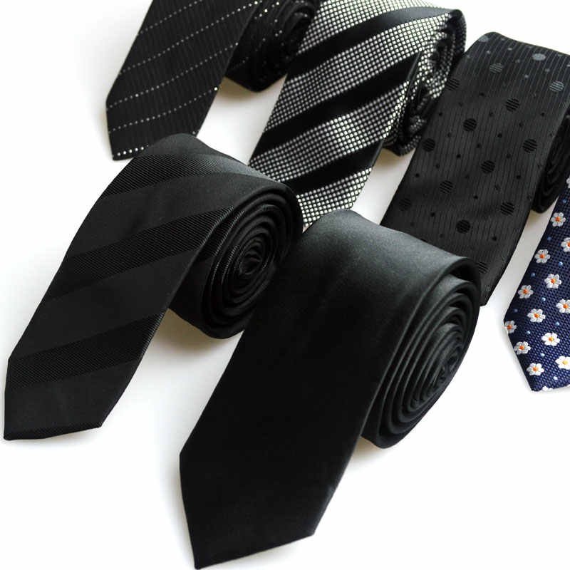 1 Piece Korean British Style 5cm Neck Tie Slim Narrow Casual Dot Striped Party Club Salon Pub For Men Women Groom Waiter Waitres