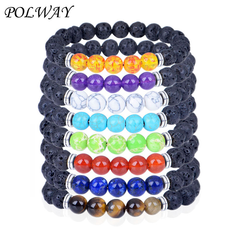 2019 New Trendy 8mm Beads Bracelets Men Fashion Classic Charm For Jewelry Gift