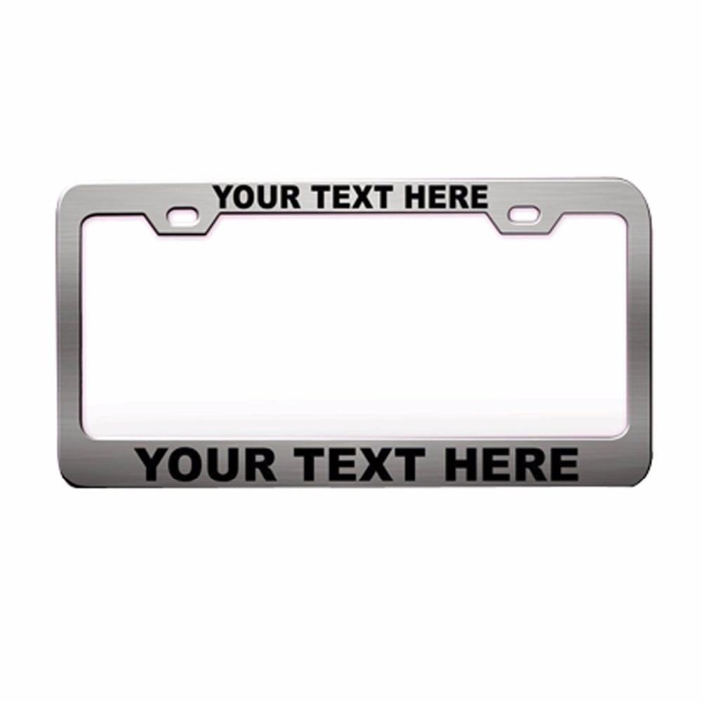 Custom Car License plate frame license holder Personalized License ...