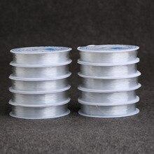 1 рулон 0.5/0.6/0.7/0.8/1 мм сильный эластичный канат прозрачный шнура Бисер DIY ювелирных изделий браслет/Цепочки и ожерелья