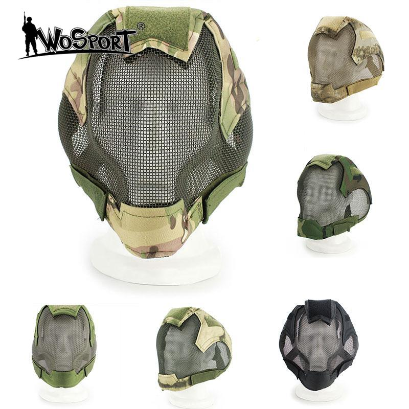 WoSporT Hot Tactical Military Full Face Mask Protection Paintball Head Protective Cosplay Mask Outdoor Equipments