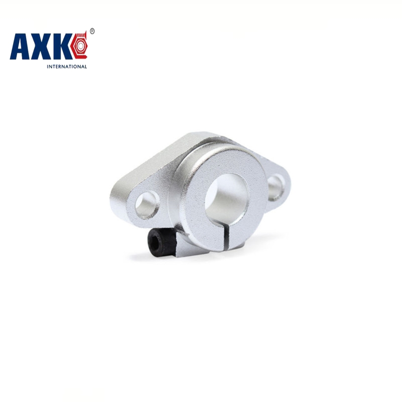 AXK SHF8 SHF10 SHF12 SHF16 bearing shaft support for <font><b>8mm</b></font> 10mm 12mm 16mm <font><b>rod</b></font> round shaft support diy XYZ Table CNC 3D Printer image