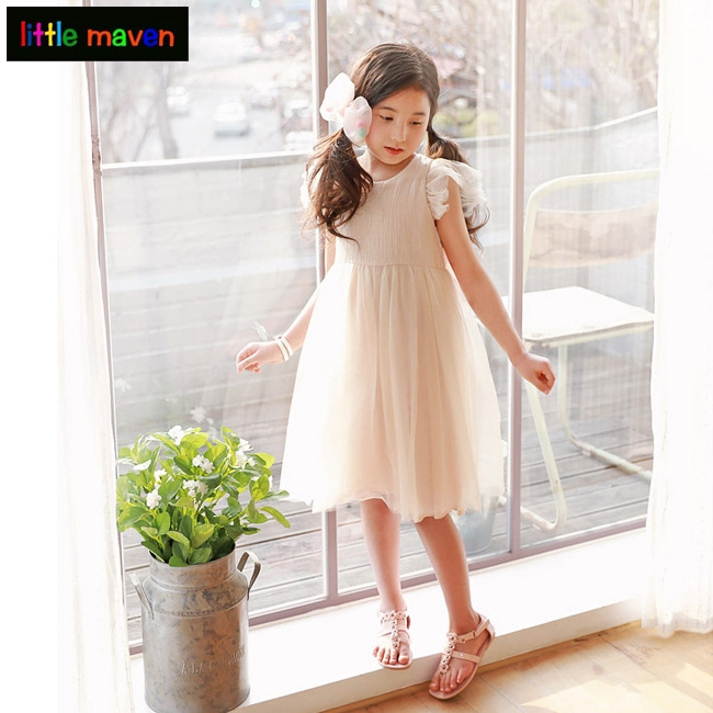 3-12Yrs Baby Girls Princess Dresses Summer Grace Weding Party Prom Dress Fashion Casual Children Teens Bebe Baby Kids Clothes 2017 girls princess dresses kids bridesmaids clothes long dress children red prom dress for party and wedding 4 5 6 7 8 9 10 yrs