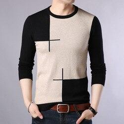 2019 Autumn Casual Men's Sweater O-Neck Slim Fit Knittwear Mens Sweaters Pullovers Pullover Men Pull Homme M-3XL 2