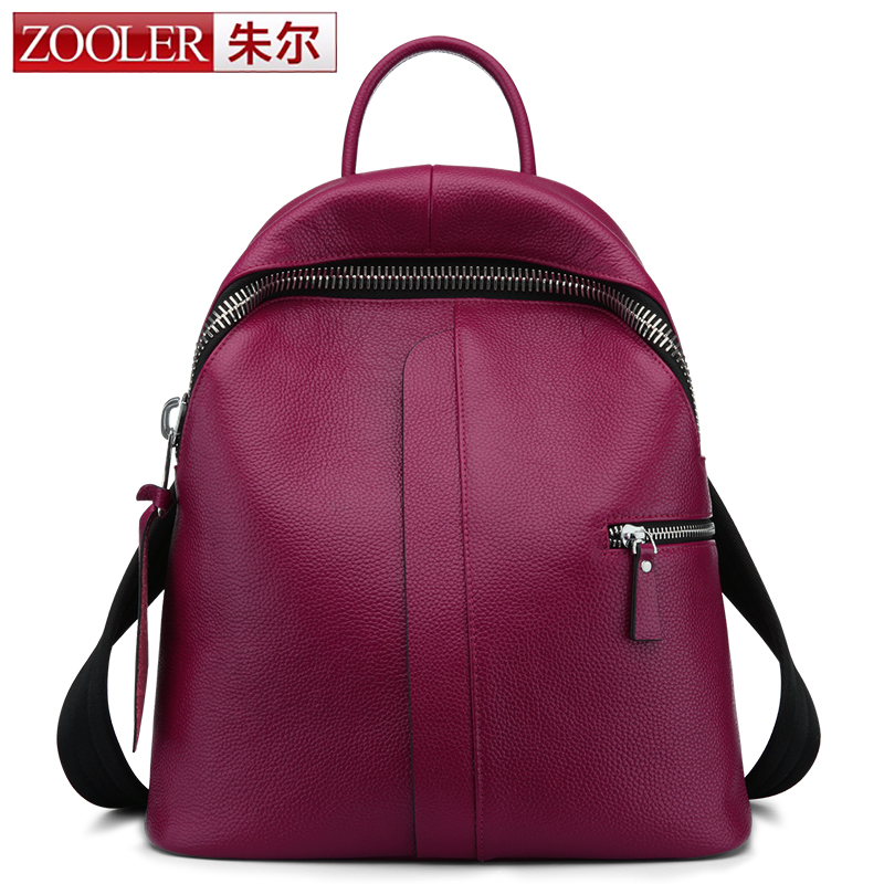 ZOOLER genuine leather backpack 2017 new listed style cowhide women backpacks real leather Brand large capacity bag #8385 zooler genuine leather backpacks for men boy 2016 new backpack real leather famous brand china hot large capacity bag 8339