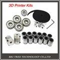 Impressora 3d reprap prusa i3 kit movimento cinto GT2 polia 608zz lm8uu rolamento 624zz rolamento