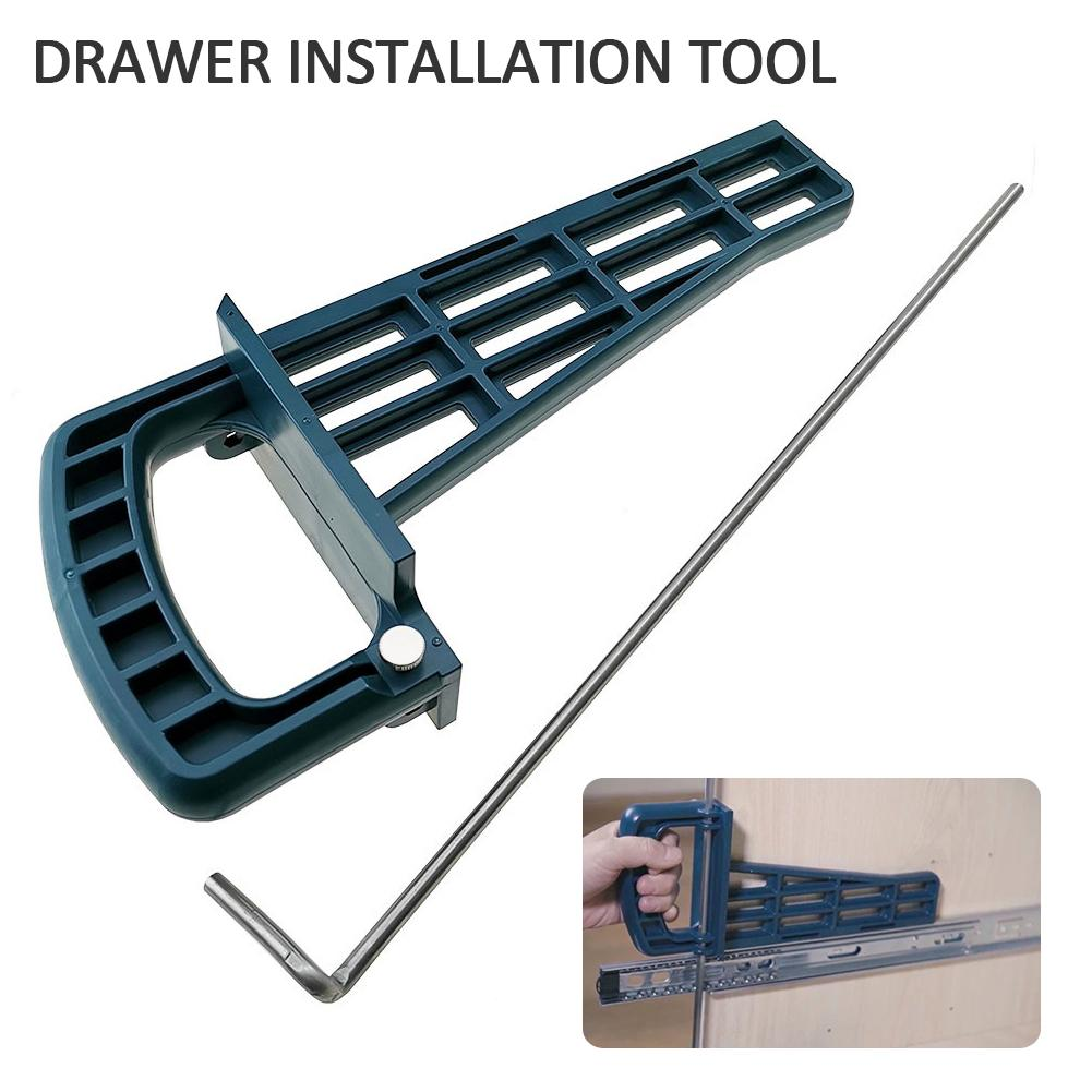 Drawer Slide Jig Set Mounting Tool For Cabinet Furniture Extension Cupboard Hardware Quick Install Guide Woodworking