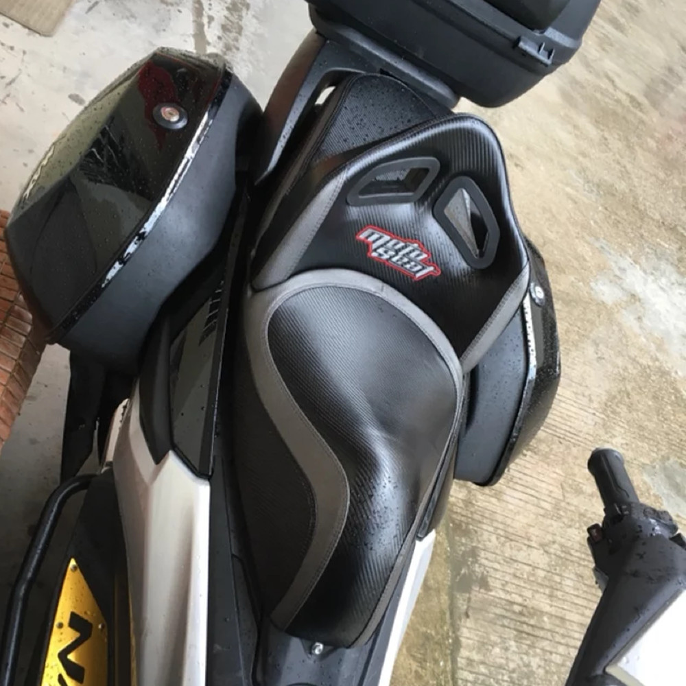 Modifié moto NMAX nmax confort dossier en cuir coussin de siège tapis de selle pour yamaha nmax155 nmax125 2016 2017 2018