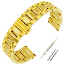 18mm 20mm 22mm 24mm Stainless Steel Watch Band for Casio BEM 302 307 501 506 517 EF MTP Butterfly Buckle Strap Wrist Bracelet