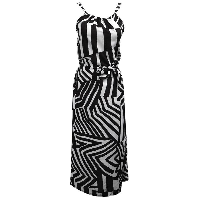 New Hollow out backless Striped Women dresses beach summer Sexy Women BOHO Sleeveless Long Maxi Party Long Beach Dress Sundress