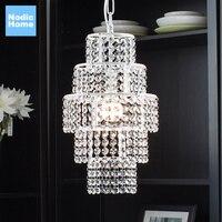 Современные K9 хрустальная люстра серебристый белый светодио дный люстра столовая хрустальная люстра Гостиная лампа E27 светодио дный присп
