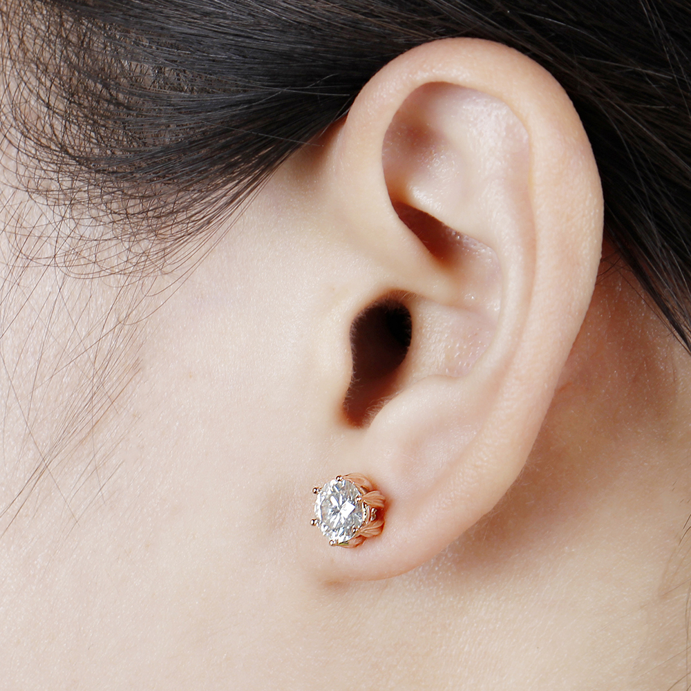 moissanite earrigns rose gold (8)