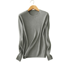 Women's 100% cashmere winter/autumn/spring sweater pure color knitting pullovers sweaters women clothing