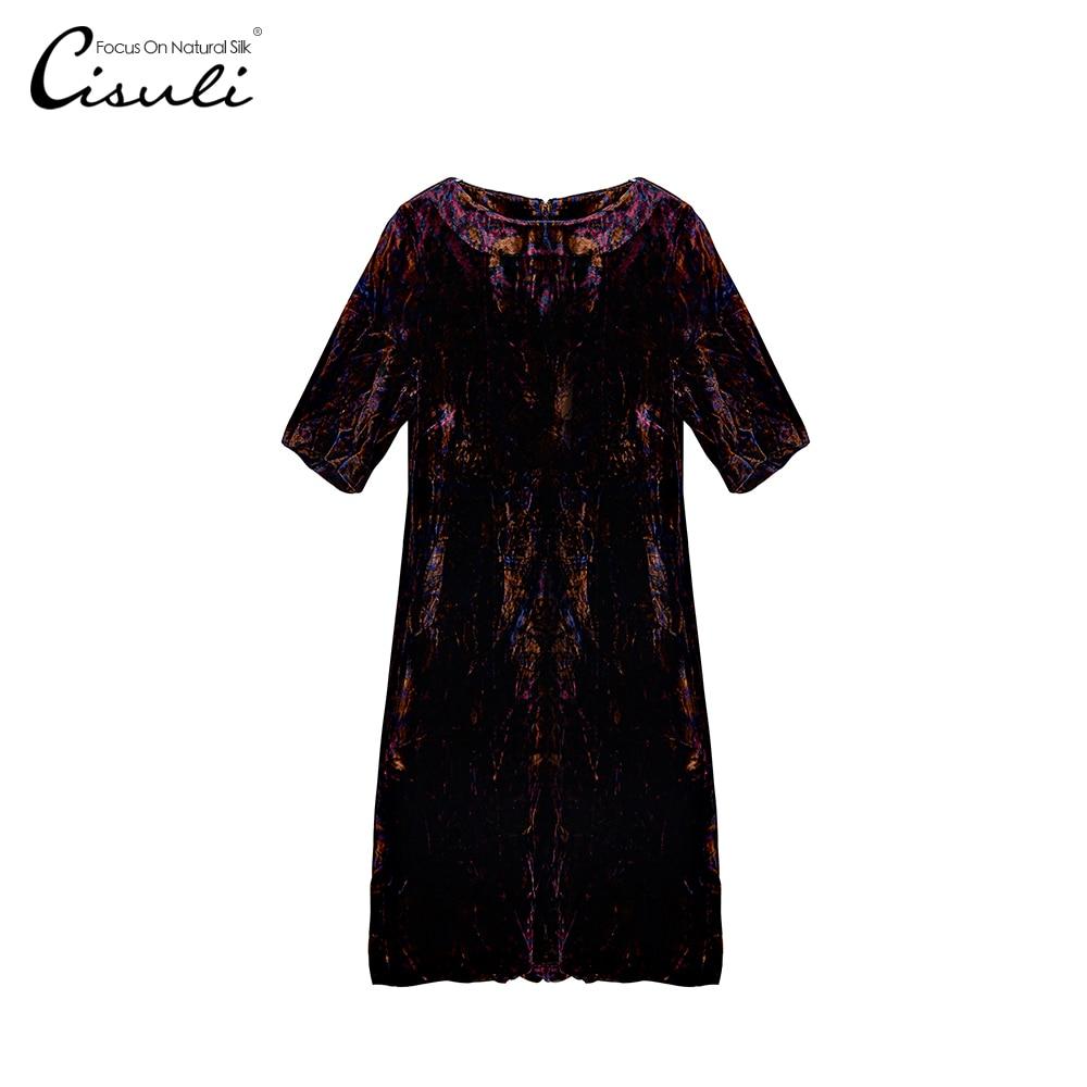 CISULI naturalnego jedwabiu aksamitna kobieta sukienka wiosna i jesień sukienka jedwabna promocja w Suknie od Odzież damska na AliExpress - 11.11_Double 11Singles' Day 1