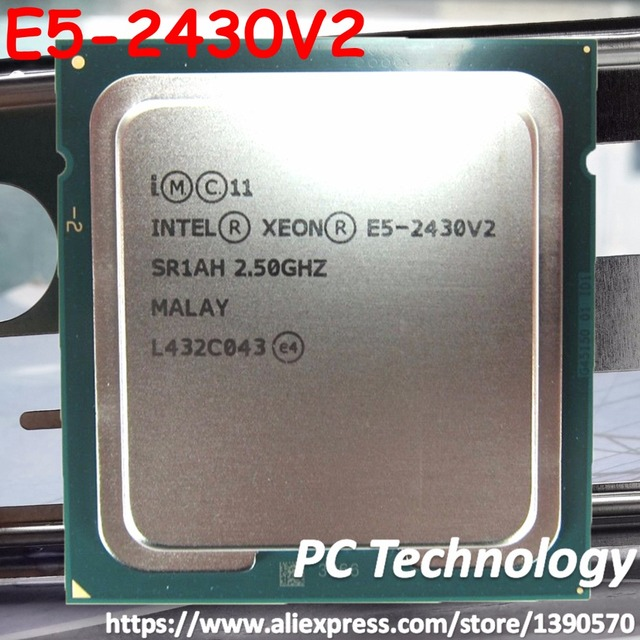 E5 2430V2 Original Intel Xeon E5 2430V2 2.5GHZ 6 Core 15MB SmartCache E5 2430 V2 LGA1356 80W free shipping E5 2430 V2