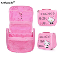 Cartoon Hello Kitty Large Capacity Storage Bags Cosmetic Bag Waterproof Wash Bag For Woman Travel D1