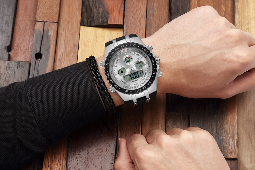 Readeel Top Brand Sport Quartz Wrist Watch Men Military Waterproof Watches LED Digital Watches Men Quartz Wristwatch Clock Male 15