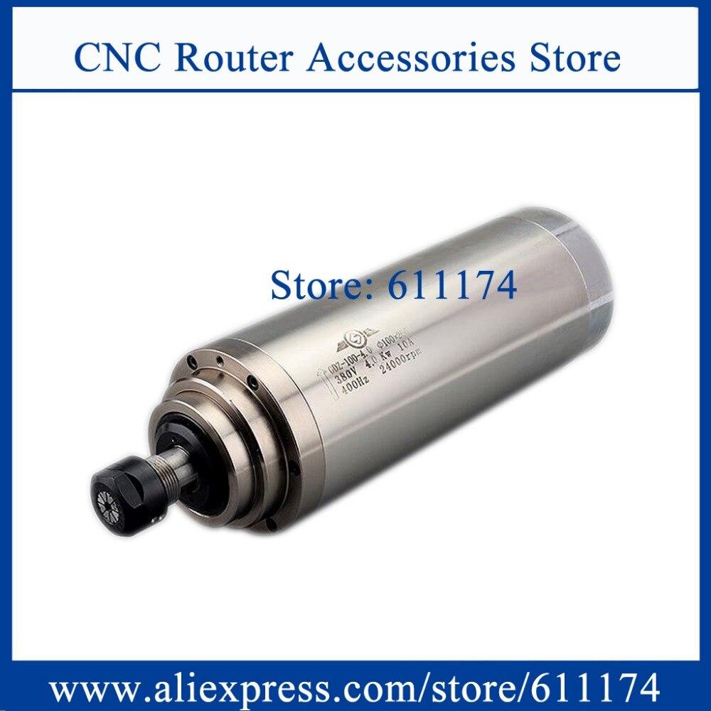 Details about  /2.2KW Water Cooled Spindle Motor 80mm ER20 CNC Router Engraving Milling 220V US
