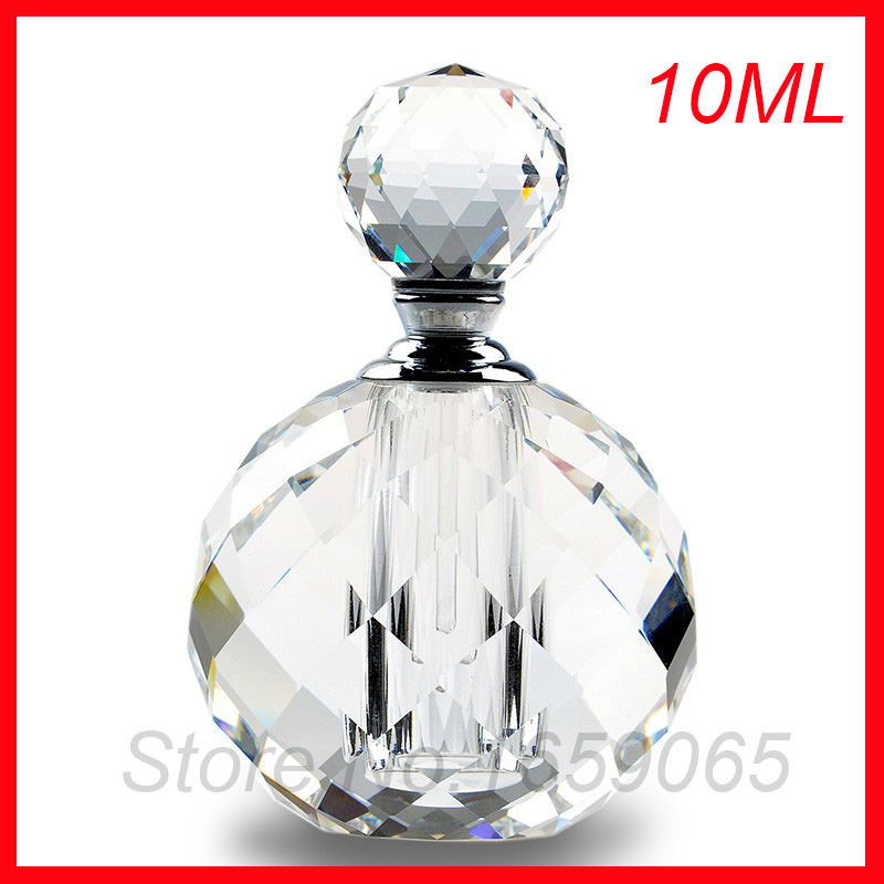 NEW 10ml cosmetics perfume bottle round crystal glass essential oil makeup container small Parfum atomizer perfumeros containers cosmetics 50g bottle chinese herb ligusticum chuanxiong extract essential base oil organic cold pressed
