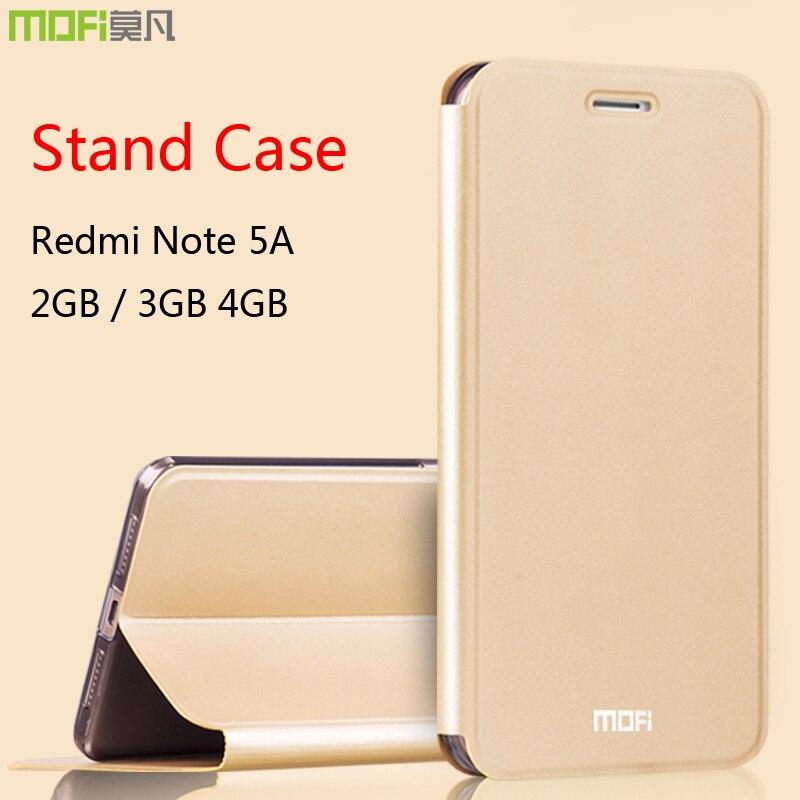 redmi note 5a case xiaomi redmi note 5a leather cover flip luxury black mofi folio stand 2GB 3GB 4GB xiaomi redmi note 5a case