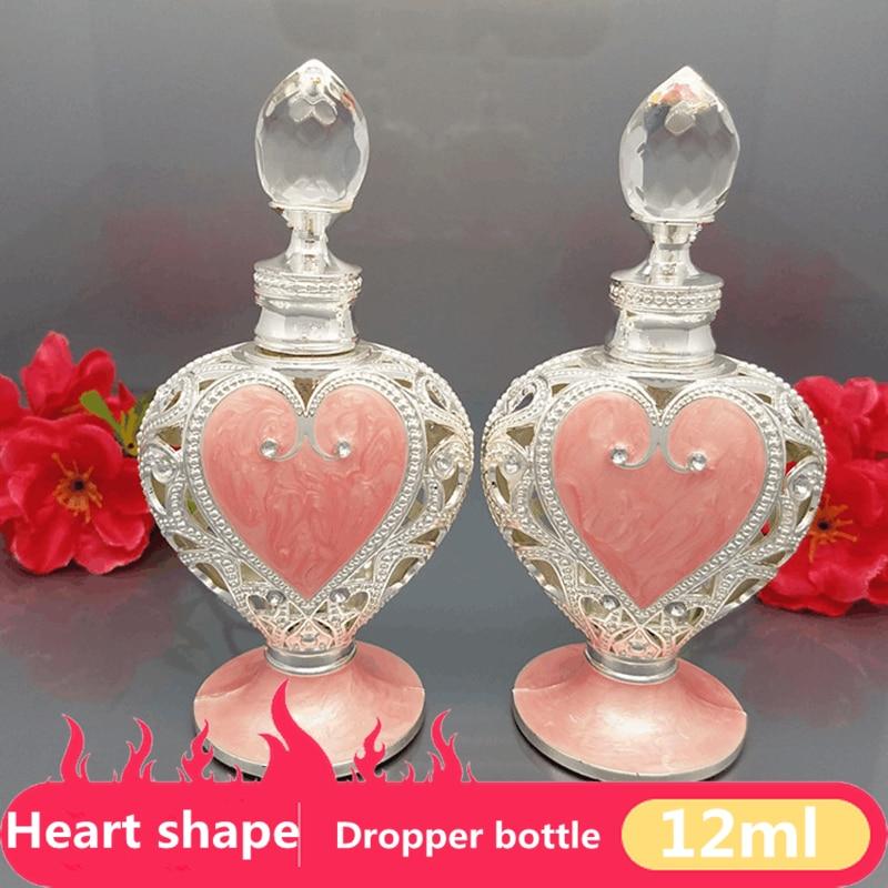 12 ml Orta Doğu Vintage Şişe Kalp Şekli ile Lüks Yuvarlak Maytap - Cilt Bakımı Aracı