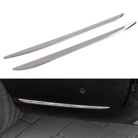 CITALL 2PCS car styling ABS Plastic Chrome Plated Rear Bar Side Trim Decor Cover for Mercedes Benz E Sport 2016 2017