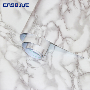 Image 2 - Marble Self adhesive Wallpaper Waterproof Bathroom Contact Paper Countertop Kitchen Oil proof Wall Sticker Toilets Tile Stickers