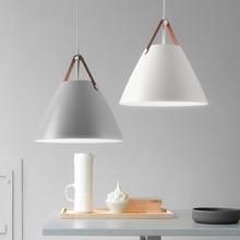 цена на Modern Nordic minimalist creative hanging lights bar lighting living room lamps dining room Fixtures restaurant Pendant Lights