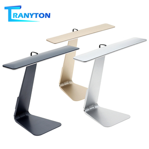Image 1 - Ultrathin Mac Style LED Desk Lamp 3 Modes Touch Dimming Reading Table Lamp Soft Eye Protection USB Rechargeable LED Night Lights